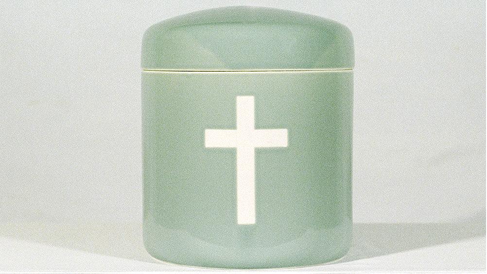 青磁十字架2万